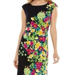 Ronnie Nicole Black Floral Dress